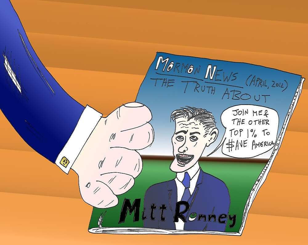 Binary Options News Caricature Mitt Romney by Binary-Options