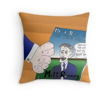 Binary Options News Caricature Mitt Romney Throw Pillow