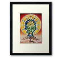 Vision of the shaman Framed Print