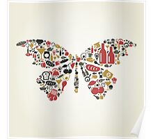 Food the butterfly Poster