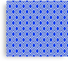 Modern Classic Blue Pattern Canvas Print