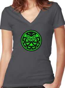 Hail Cthulhu (filled) Women's Fitted V-Neck T-Shirt