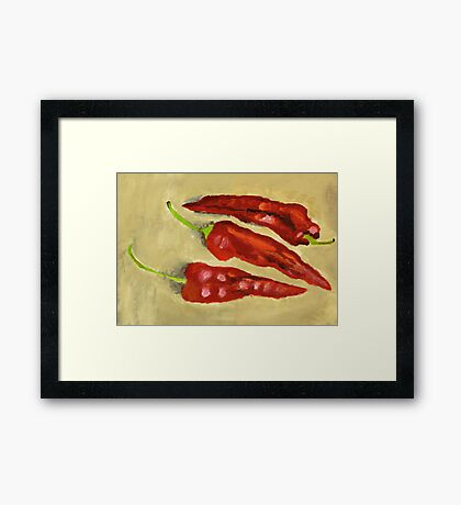 3 Chilies  Framed Print