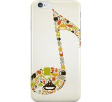 Food the note iPhone Case/Skin