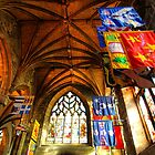 Flags in St Giles by Pippa Carvell