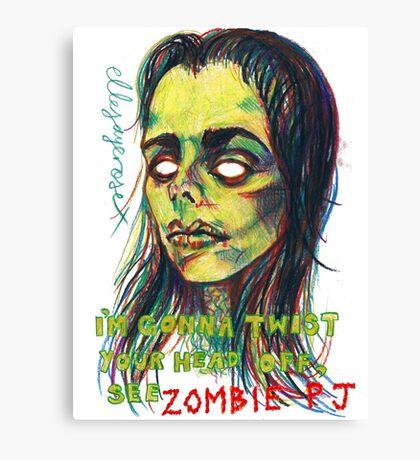 Zombie P J Canvas Print