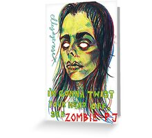 Zombie P J Greeting Card