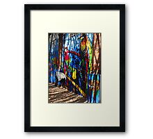 Art graffity at the island of the River Cuale Framed Print