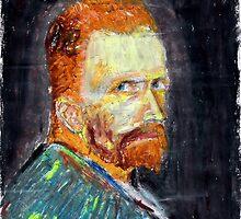 Van Gogh Self-Portrait (Summer 1887) by mukudjmask