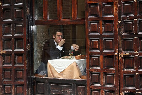 Memories of Spain 3 - Lonely Man Dinner in Madrid's Latin Quarter by Igor Shrayer