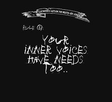 deadbunneh asylum - your inner voices have needs too Womens Fitted T-Shirt