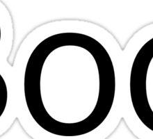 Boo. Sticker