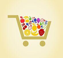 Fruit a cart by Aleksander1