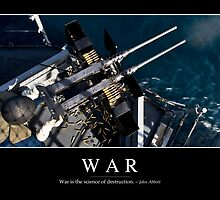 War: Inspirational Quote and Motivational Poster by StocktrekImages