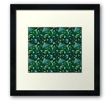 Green space map Framed Print