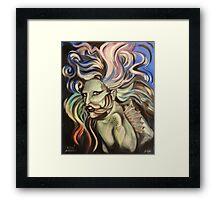 Lady Gaga (as a fish) Framed Print