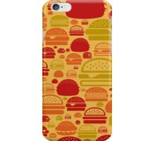 Hamburger a background iPhone Case/Skin