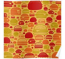 Hamburger a background Poster
