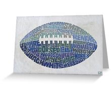 Cowboy Football Greeting Card