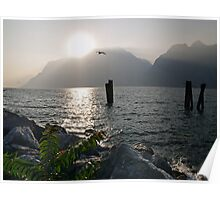Sunset at Torbole Poster