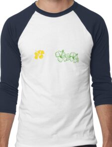 Hibiscus  Men's Baseball ¾ T-Shirt