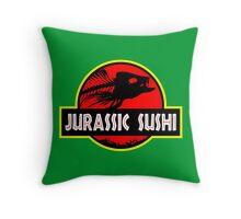 Jurassic Sushi Throw Pillow
