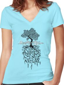 Creativity is Rooted In Nature Women's Fitted V-Neck T-Shirt