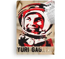 Yuri Gagarin forever with us Canvas Print