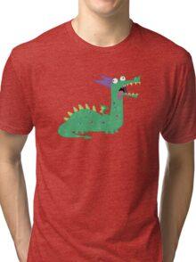 Crackles The Dragon Tri-blend T-Shirt