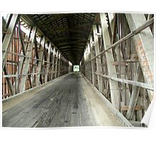 Inside of Covered Bridge Poster