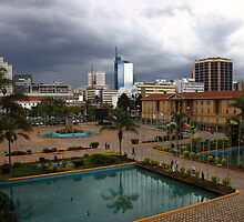 Stomy skies Over Nairobi by Karue