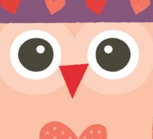 Hipster Owlet Purple v2 Sticker