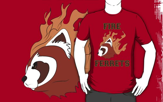 Fire Ferrets by scarlethue