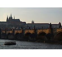 Across the Vltava River to Prague Castle Photographic Print