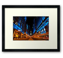 Broad Street City Lights, Philadelphia Framed Print
