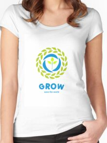GROW save the world Women's Fitted Scoop T-Shirt