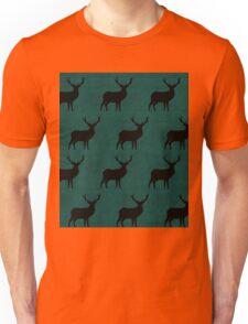 Deer on green Unisex T-Shirt