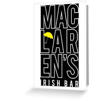 MacLaren's Irish Bar Greeting Card