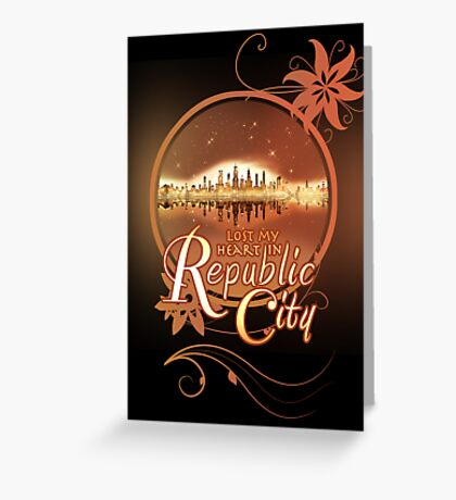 Lost My Heart In Republic City Greeting Card
