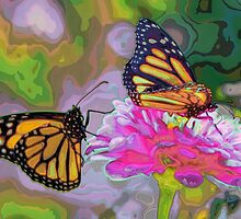 Monarch Butterflies by RMVera