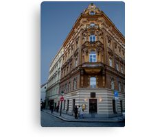 Corner Building, Prague Canvas Print