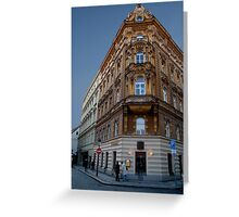 Corner Building, Prague Greeting Card