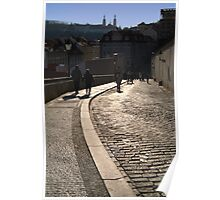 Cobbled Street near Prague Castle Poster