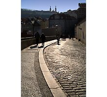 Cobbled Street near Prague Castle Photographic Print