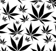 Marijuana Leaves Rain texture Sticker
