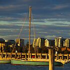 A Boat at Sunset by kalaryder