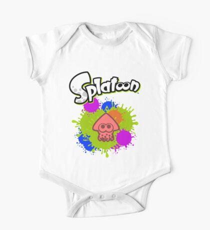 Splatoon Squid - Colour Red One Piece - Short Sleeve