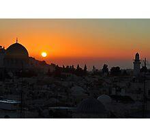 6:05am jerusalem palestine Photographic Print