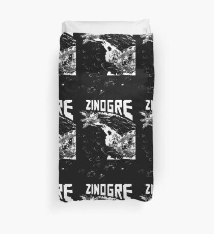 Monster Hunter- Zinogre Roar Design White Duvet Cover