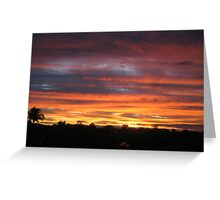 Sunset near Moorook Greeting Card